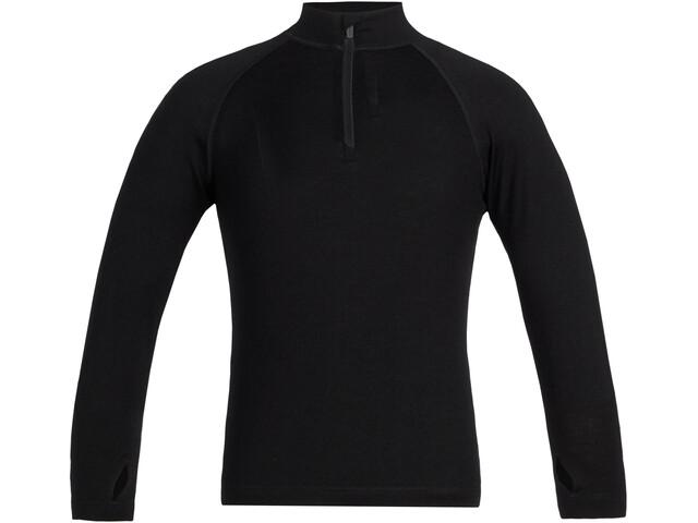 Icebreaker 260 Tech LS Half Zip Shirt Barn black